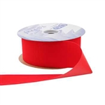 Red Vel-Pruf flocked polypropylene ribbon