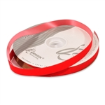 Red Veltex flocked polypropylene ribbon