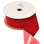 Brick Red Veltex flocked polypropylene ribbon