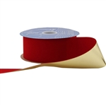 Brick Red Glitter Veltex Ribbon