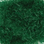 Green Waxed Tissue Shred - Basket Filler -  10 lbs
