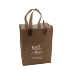 Personalized Wedding Reception Bags - Frosted Brown
