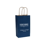 Personalized Wedding Reception Bags - Navy Blue