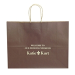 Personalized Wedding Reception Brown Vogue Bags