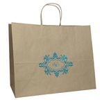 Personalized Wedding Reception Kraft Vogue Bags