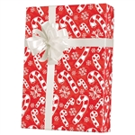 Gift Wrap Flakes & Candy Canes Pattern X-2084