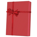 Gift Wrap Red Swiss Dots Pattern X-3100