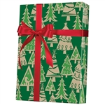 Gift Wrap Holiday Forest/Kraft Pattern X-3151