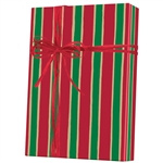 Gift Wrap Christmas Stripe Kraft Pattern X-3154