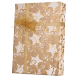 Gift Wrap Gold Stars & Swirls/Kraft Pattern X-4003
