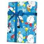 Gift Wrap Frosty Friends Pattern X-4016
