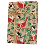 Gift Wrap 100% Recycled Snowbirds/Kraft Pattern X-6231