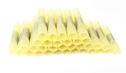 Conext Link BCHS-Y25 Heat Shrink Butt Connector 25 Pack 12-10 Gauge Yellow