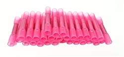 100Pcs Heat Shrink Butt Tube Splice Connector 22-18GA Gauge PINK Wire Terminal