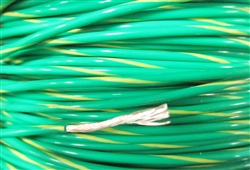 PFTE 18 AWG (19XSCC) GREEN YELLOW MIL-W-16878/4 (M16878/4) NEMA HP3 TYPE E