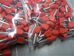 2 x 18 AWG Twin Entry Wire Ferrules RED 1000 PCS