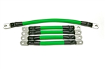 4 Awg HD Golf Cart Battery Cable 5 pc Set GREEN E-Z-GO 94/UP TXT 36V U.S.A MADE