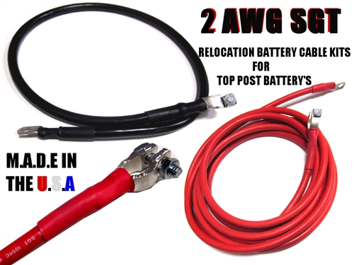SGT Battery Relocation Kit, # 2 awg