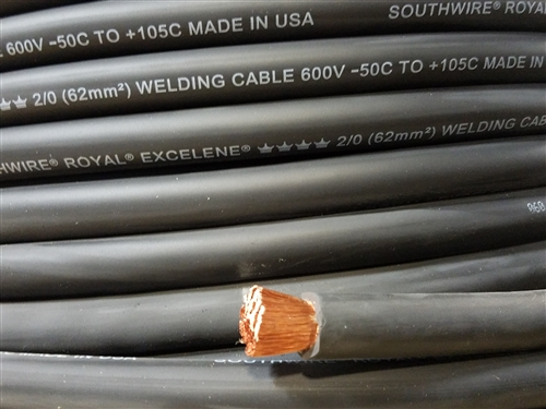 1000/' 4//0 EXCELENE WELDING BATTERY CABLE BLACK MADE IN USA  600V UP TO 600 AMPS