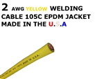 2 AWG YELLOW WELDING CABLE