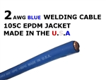 2 AWG BLUE WELDING CABLE