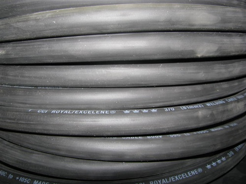 300/' 4//0 EXCELENE WELDING CABLE BLACK MADE IN USA  600V UP TO 600 AMPS