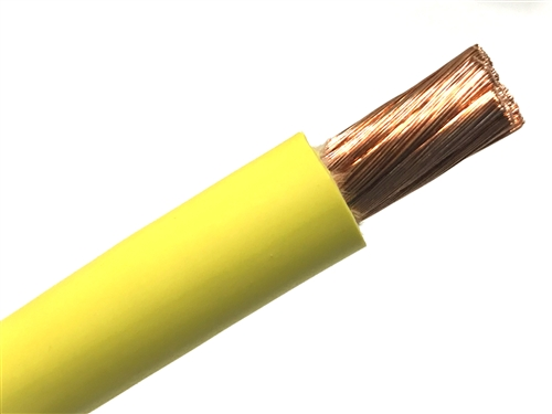 25/'  1//0 AWG WELDING//BATTERY CABLE BLUE 600V MADE IN USA COPPER EPDM JACKET