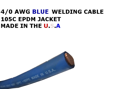 4 0 Welding Cable Blue