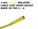 4 AWG YELLOW WELDING CABLE
