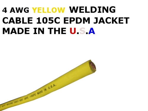 Awg yellow welding cable 4 awg yellow welding cable keyboard keysfo Images