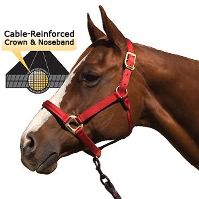 Blocker Halters - Cable Reinforced Crown & Noseband