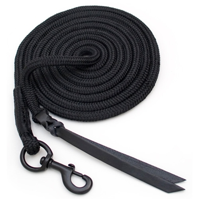 Blocker 12 Foot Lead Ropes - Double Leather Popper