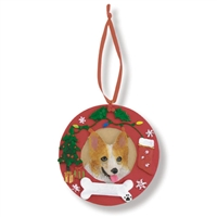 Canine Holiday Wreath Ornaments