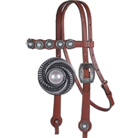 Alamo Scalloped Western Headstalls