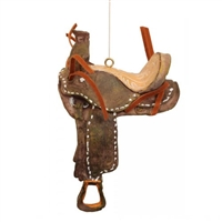 Rustic Western Saddle Ornaments