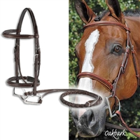 Vespucci Fancy Raised Hunt Bridles - With Reins