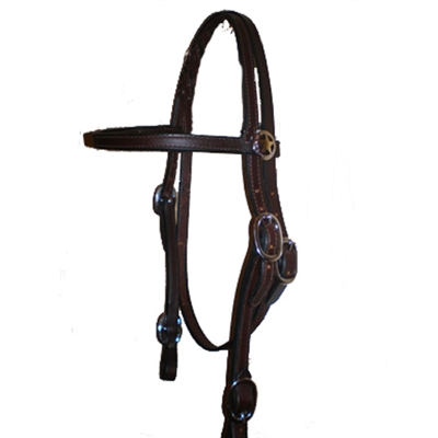 Action Rider Straight Brow Leather Western Headstalls