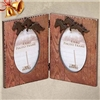 Hinged Running Horse Dual Picture Frames