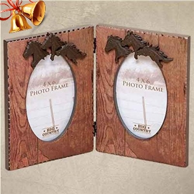Gifts for horse lovers - Hinged Running Horse Dual Picture Frames