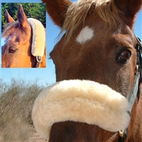 JMS Crown Piece Sheepskin Covers and Noseband Covers