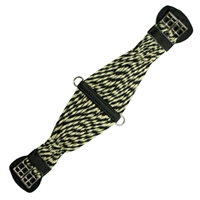 Montana Cincha Endurance Girths - Black and Tan Mohair