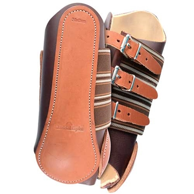 Classic Equine Leather Splint Horse Boots - Front