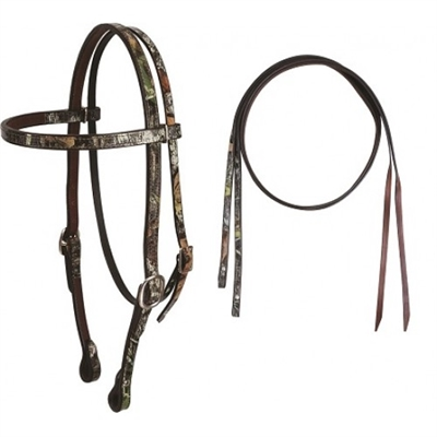 Cashel Camo Headstalls and Split Reins