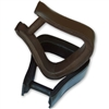 Barefoot Western Leather Covered Stirrups