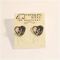 Finishing Touch of Kentucky-  Retro Horse Head Earrings