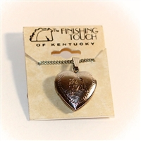 Finishing Touch of Kentucky - Horse Heart Locket Pendant