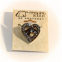 Finishing Touch of Kentucky -  Horse head Pendant Crystal stones