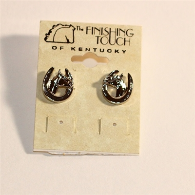 Finishing Touch of Kentucky Horse Head Earrings
