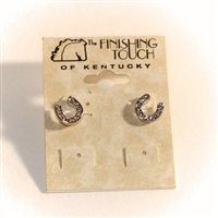 Finishing Touch of Kentucky - Horse Shoe Earrings with crystals
