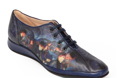 "Essy-2 Sneakers in ""Umbrellas"" by Auguste Renoir"